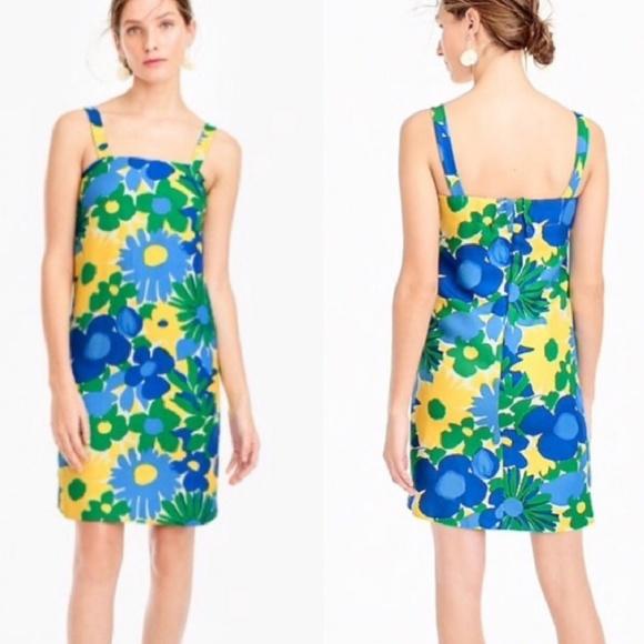 12c44c1d807 J. Crew Dresses   Skirts - J. Crew Blue Green Yellow Floral Sundress